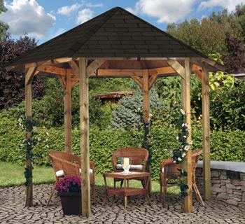 aufbau und gr e des pavillons. Black Bedroom Furniture Sets. Home Design Ideas